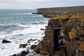 Cliffs of Aran islands in Ireland — Stock Photo