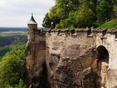 Königstein Fortress — Stock Photo