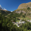 Matterhorn and Zermatt — Foto de Stock