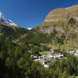Matterhorn and Zermatt — Stock fotografie