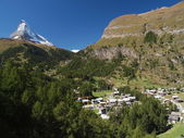 Matterhorn and Zermatt — Stock Photo
