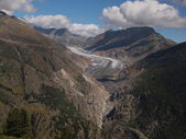 Big Aletsch Glacier — Stock Photo