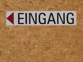 Niemcy znak wejście — Zdjęcie stockowe