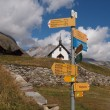 Walking path on the Belalp — Stock Photo