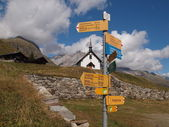 Walking path on the Belalp — 图库照片