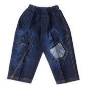 Children's wear - jeans isolated over white background. — Foto Stock