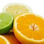 Citrus Fruits isolated on white background — Stock Photo #49606793