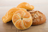 Fresh bread and rolls — Stock Photo