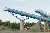 Belt conveyors - Mining in the quarry — Stock Photo