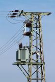 Column high voltage with transformer — Stock Photo