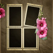 Stamp frames over old textured background - Stock Photo