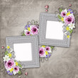 Vintage elegant frame with rose — Stock Photo #12133196