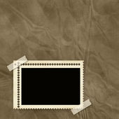 Stamp frame over old textured background — Stock Photo