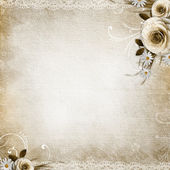 Texture Background with roses — Stock Photo