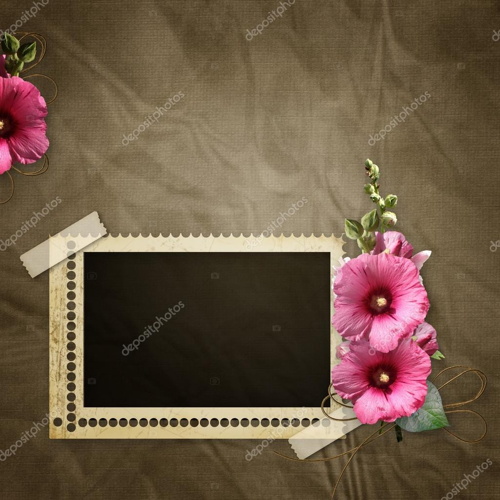 Stamp frame and mawell over old textured background — Stock Photo #12133003