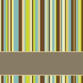 Brown, blue and green colored striped background with banner — Stock Photo
