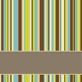 Kahverengi, mavi ve yeşil renkli çizgili arka plan afiş — Stok fotoğraf