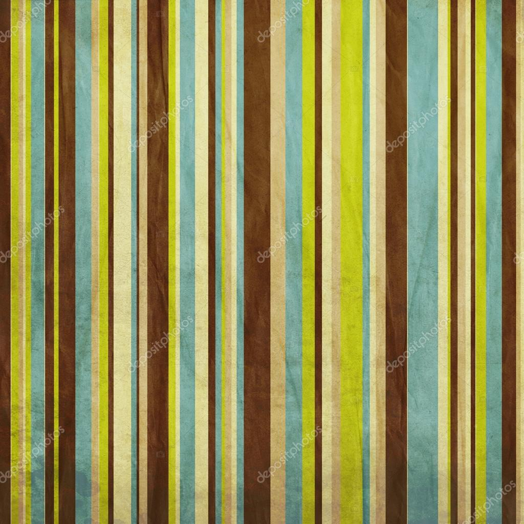 vintage brown blue and green grunge colored striped
