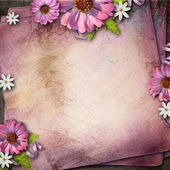 Vintage background with flowers — Stockfoto