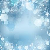 Leichte weihnachten abstrakt mit schneeflocken — Stockfoto