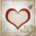 Vintage grunge background to a festive Valentine — Stock Photo #18491463