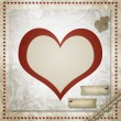 Vintage grunge background to a festive Valentine - Foto Stock