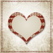 Stock Photo: Vintage grunge background to a festive Valentine