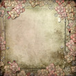 Old decorative background with flowers and pearls — Stock Photo #18491893