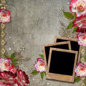 гранж абстрактный фон с розами — Стоковое фото