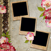 Grunge abstract background with roses — Stock fotografie