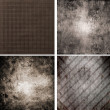 Set of four different retro pattern backgrounds — Stock Photo