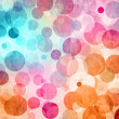 Light Colored Blue - Pink - Orange Abstract Circles Background — Stock Photo #19661511
