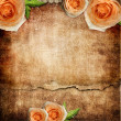 Vintage romantic background with roses — Photo