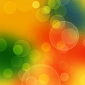 Abstract color background with blurred circles - blue, orange and green — Stock Photo