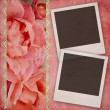 Royalty-Free Stock Photo: Beautiful wedding background withroses banner and frames