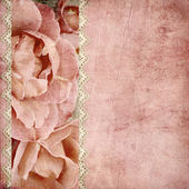 Beautiful wedding background with roses banner — Stock Photo