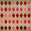 Seamless retro harlequin background — Stock Photo
