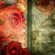 Romantic retro background - Stockfoto