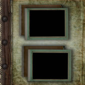Page of vintage photo album, with photo frames — Stock Photo