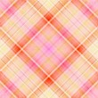Beige, pink, white and orange plaid pattern — Stock Photo