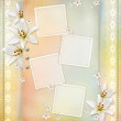 Wedding background with flowers for congratulations and invitat — Stock Photo