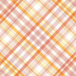 Retro beige, pink, white and orange plaid pattern  — Stock Photo