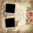 Greeting card with beautiful roses — Stock Photo
