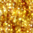 Golden Background With Stars And Bokeh — Stock Photo