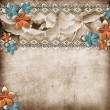 Beautiful wedding background with  horizontal roses banner and l — Foto de Stock