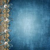 Blaue Album-Cover oder Seite für Fotos — Stockfoto