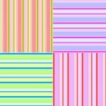 Set of 4 Retro striped backgrounds — Stock Photo #40976299