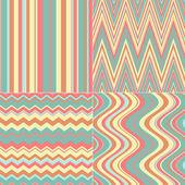 Set di quattro sfondi colorati a righe — Foto Stock