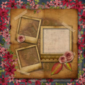 Vintage texture background with ribbon embroidery — Stock Photo