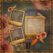 Vintage texture background with watch (time) — Foto Stock